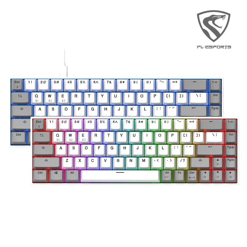 kailh&FL ESPORTS 68keys hot swap socket game mechanical keyboard with RGB backlight Wired USB Ergonomic keyboard For PC laptop